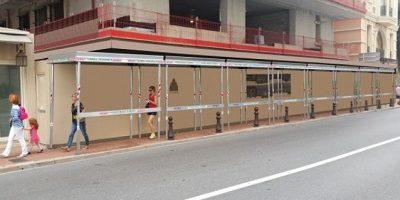 pedestrian tunnel walkway overhead protection
